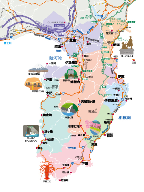 伊豆 半島 地図
